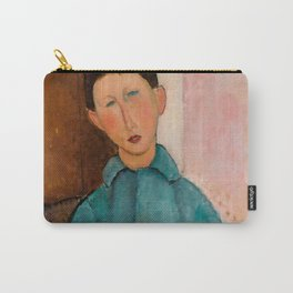 """Amedeo Modigliani """"Boy in a Blue Vest"""" 1918 Carry-All Pouch"""
