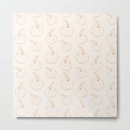 Cute and nice fruits pattern Metal Print