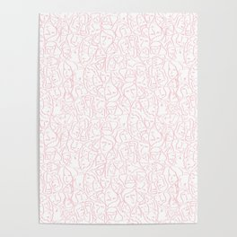 Elios Shirt Faces in Blush Pink Outlines on White CMBYN Poster