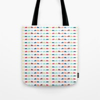 cars Tote Bags featuring Cars by Yasmina Baggili