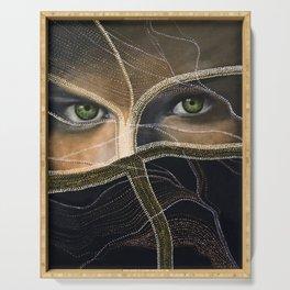 emerald eyes Serving Tray