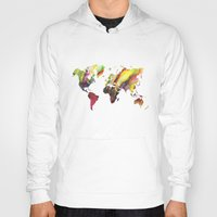 new order Hoodies featuring World Map new order by jbjart
