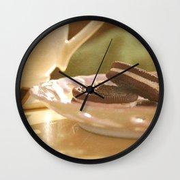 tea + cookies Wall Clock