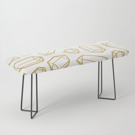 Gold and White Gemstone Pattern Bench