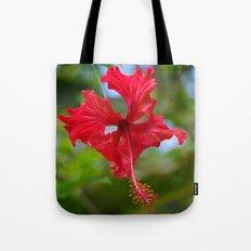 Scarlet Flower Tote Bag