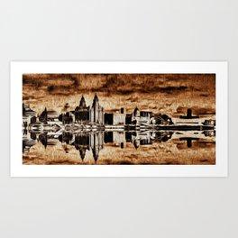 Liverpool Water front Skyline (Digital Art) Art Print