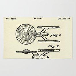 Starship Enterprise Startrek -1981 Rug