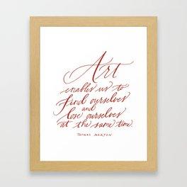 Thomas Merton (Calligraphy) Framed Art Print