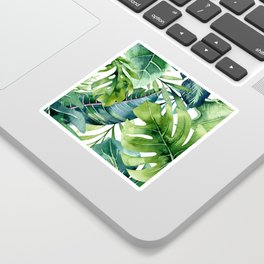 Tropical Jungle Leaves Sticker