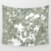 leaf Wall Tapestries featuring Leaf  by Maethawee Chiraphong