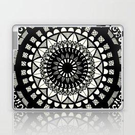 Black on cream mandala Laptop & iPad Skin