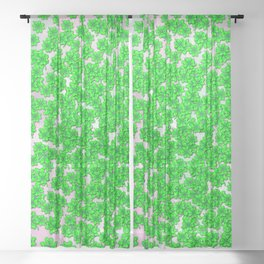 Abstract four leaf clover pattern on texture Sheer Curtain