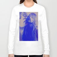 kate moss Long Sleeve T-shirts featuring double Kate blues (kate moss) by Kiki collagist