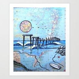 59th Street Pier, Ocean City, NJ Art Print