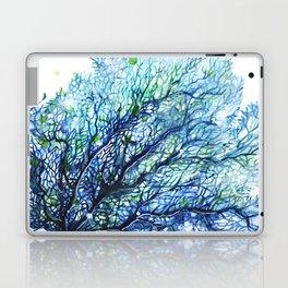 Fan Coral - Aqua Laptop & iPad Skin