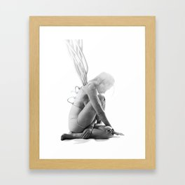 Robotic Sleep Framed Art Print