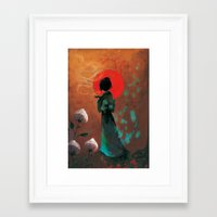 japan Framed Art Prints featuring Japan by Ludovic Jacqz