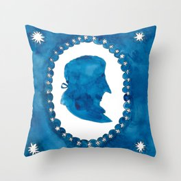 The Blue and the White Throw Pillow