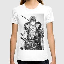 One Piece   Roronoa Zoro Black White T-shirt