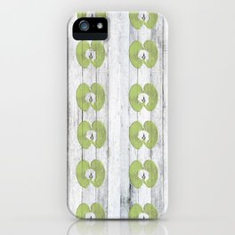 White Wood Apples iPhone Case
