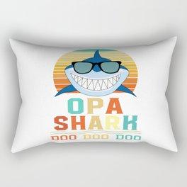 Vintage Mens Grandfather Shark Doo Doo Doo Father Rectangular Pillow