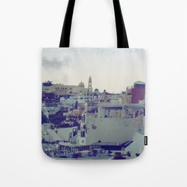 Fira at Dusk V Tote Bag