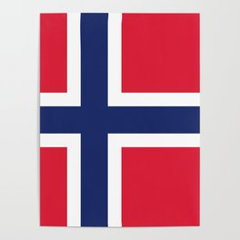 Norway flag emblem Poster
