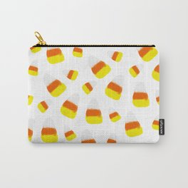 Cute halloween candy corn orange yellow watercolor pattern Carry-All Pouch