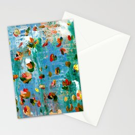 Abstract Floral - Everything Is Falling Into Place Stationery Cards