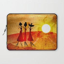 Africa retro vintage style design illustration Laptop Sleeve
