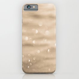Gold sparkly background iPhone Case
