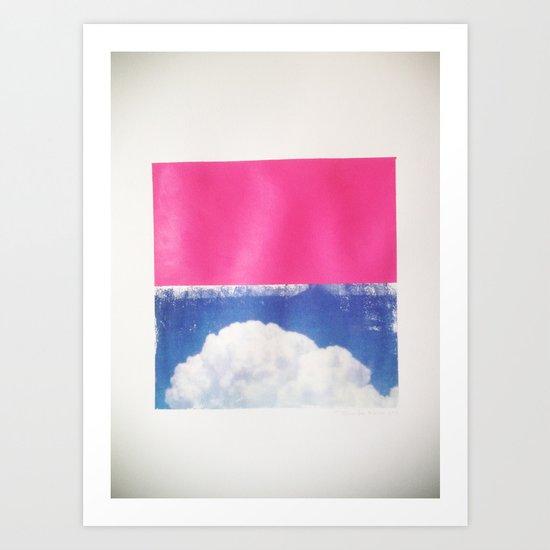 SKY/PNK Art Print