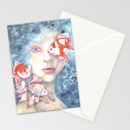 Under the Water and Dreaming Stationery Cards
