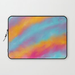 Abstract colorful rainbow watercolor brushstrokes Laptop Sleeve