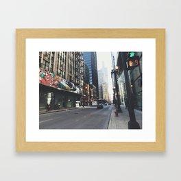 Chicago Street View Framed Art Print