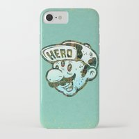 super hero iPhone & iPod Cases featuring Hero by Beery Method