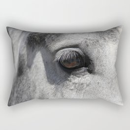 Horse Eye | Animal Photography Rectangular Pillow