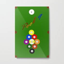 Pool 9. Color Metal Print