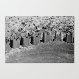 Sand Castle Black & White Canvas Print