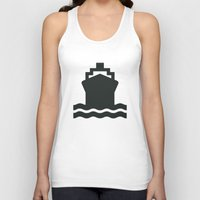 ship Tank Tops featuring Ship by Alejandro Díaz