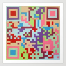 Number Two Multicolour  Art Print