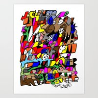 mike tyson Art Prints featuring Mike Tyson by ReallyBored
