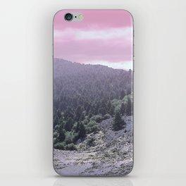 Pink Sunset on Mountains iPhone Skin