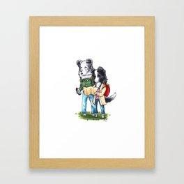 Adventure Border Collies Framed Art Print