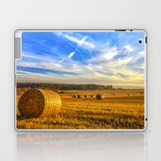Hay Bales in Autumn Sun Laptop & iPad Skin