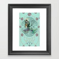 Mermaid Deco Framed Art Print