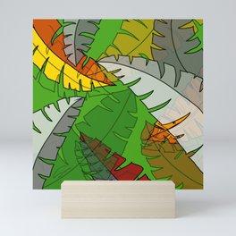 Leaves in Green Mini Art Print