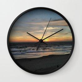 Beach at Lincoln City Wall Clock