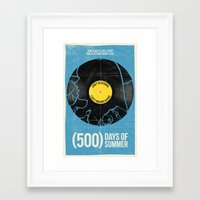 500 days of summer Framed Art Prints featuring (500) Days of Summer by Bill Pyle