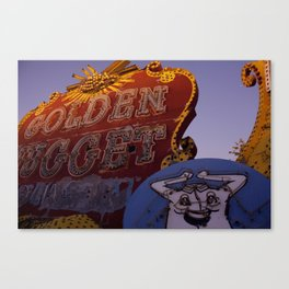 Golden Nugget Sign Canvas Print